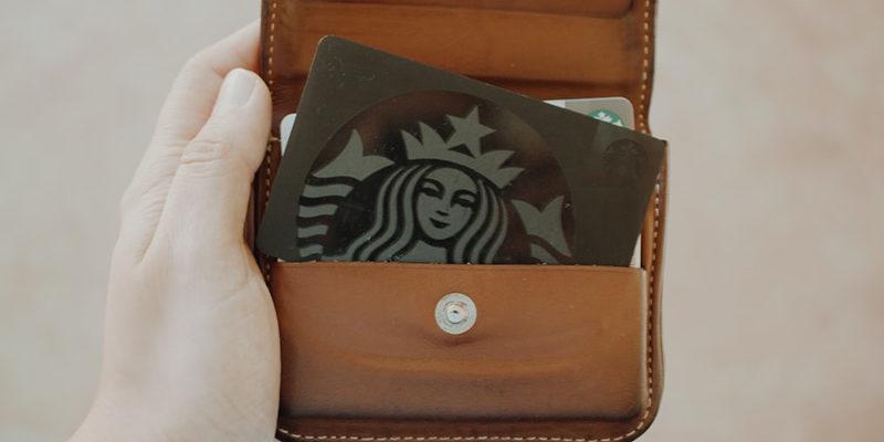 Starbucks Bild im Portemonnaie